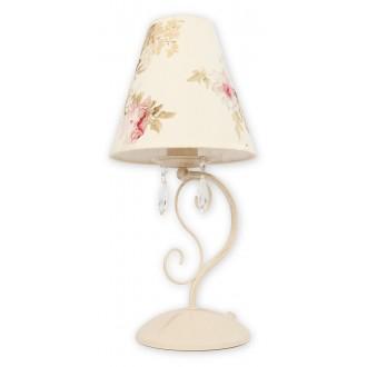 LEMIR O1968 AB KW | Velio-Abazur Lemir stolna svjetiljka 41cm sa prekidačem na kablu 1x E27 antik bijela, višebojno