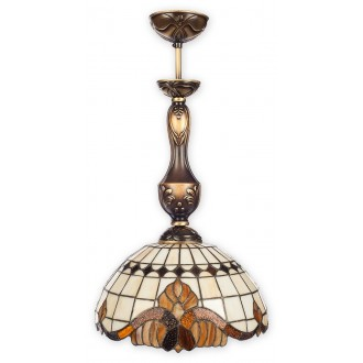 LEMIR O2061 W1 PAT | Vitrus Lemir visilice svjetiljka 1x E27 bronca, višebojno