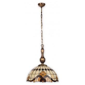 LEMIR O2062 W3 PAT | Vitrus Lemir visilice svjetiljka 3x E27 bronca, višebojno
