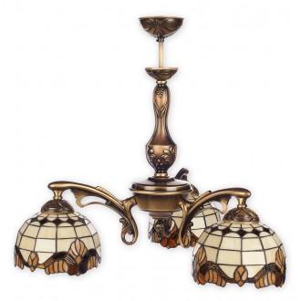 LEMIR O2063 W3 PAT | Vitrus Lemir luster svjetiljka 3x E27 bronca, višebojno