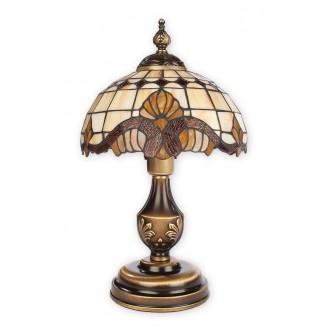 LEMIR O2068 LM1 PAT | Vitrus Lemir stolna svjetiljka 43cm sa prekidačem na kablu 1x E27 bronca, višebojno