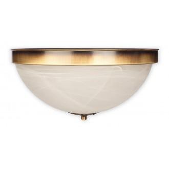 LEMIR O2121 P2 PAT | Arkadia Lemir stropne svjetiljke svjetiljka 2x E27 bronca, bijelo