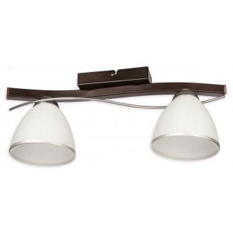 LEMIR O2152 P2 CRW | Mario Lemir stropne svjetiljke svjetiljka 2x E27 antik venga, krom, bijelo