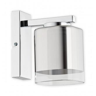 LEMIR O2310 K1 CH | Savia Lemir zidna svjetiljka 1x E27 krom, prozirno
