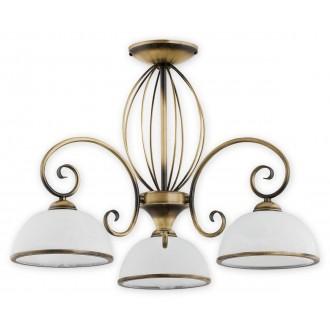 LEMIR O2493 W3 PAT | Indra Lemir stropne svjetiljke svjetiljka 3x E27 patinasto