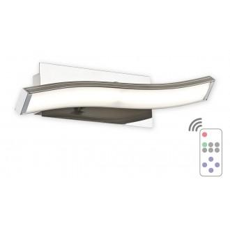 LEMIR O2510 K1 SAT + PILOT-NW | Linea_LED Lemir zidna svjetiljka daljinski upravljač jačina svjetlosti se može podešavati 1x LED 576lm 4000K krom, bijelo