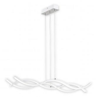 LEMIR O2513 W3 BIA-NW   Linea-LED Lemir visilice svjetiljka 1x LED 5760lm 4000K krom saten, krom, bijelo