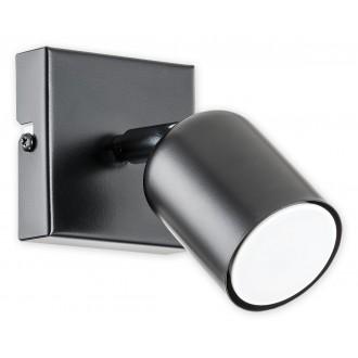 LEMIR O2620 K1 CZA | Denis Lemir spot svjetiljka elementi koji se mogu okretati 1x GU10 crno mat