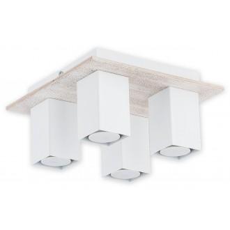 LEMIR O2644 P4 BIA | Gracja Lemir stropne svjetiljke svjetiljka 4x GU10 bijelo mat