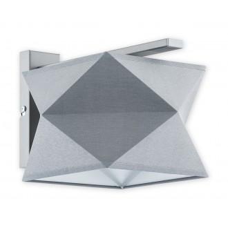 LEMIR O2770 K1 SZA + SZA | Espero Lemir zidna svjetiljka 1x E27 mat sivo, sivo