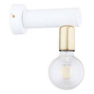 LEMIR O2820 K1 BIA | Foco Lemir zidna svjetiljka 1x E27 bijelo mat, patinasto