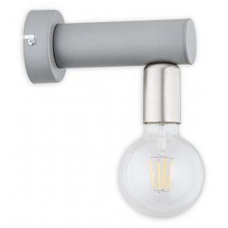 LEMIR O2820 K1 SZA | Foco Lemir zidna svjetiljka 1x E27 mat sivo, nikel