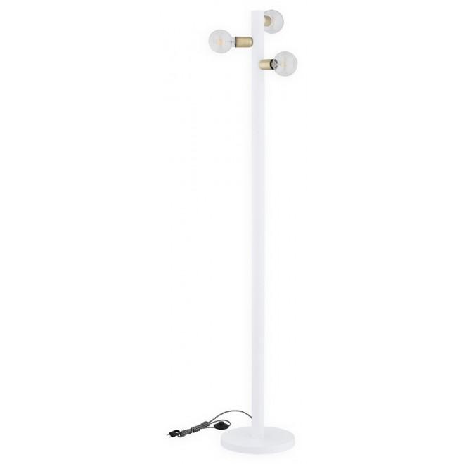 LEMIR O2829 L3 BIA | Foco Lemir podna svjetiljka 173cm sa nožnim prekidačem 3x E27 bijelo mat, patinasto