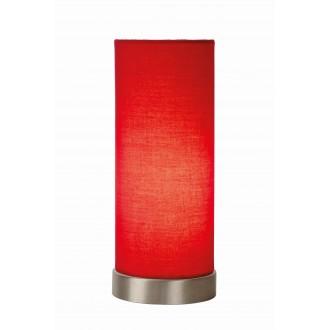 LUCIDE 03508/01/32 | Tubi Lucide stolna svjetiljka 25,5cm sa prekidačem na kablu 1x E14 krom, crveno