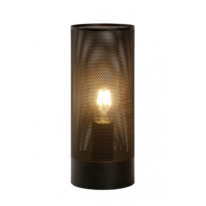 LUCIDE 03516/01/30 | Beli Lucide stolna svjetiljka 30cm sa prekidačem na kablu 1x E27 crno