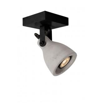 LUCIDE 05910/05/30 | Concri Lucide spot svjetiljka elementi koji se mogu okretati 1x GU10 320lm 3000K crno, sivo