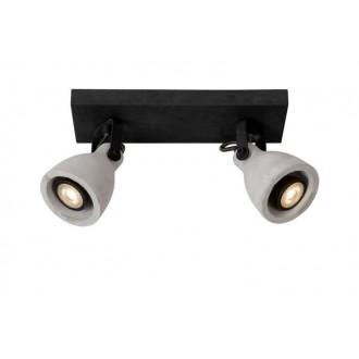 LUCIDE 05910/10/30 | Concri Lucide spot svjetiljka elementi koji se mogu okretati 2x GU10 640lm 3000K crno, sivo