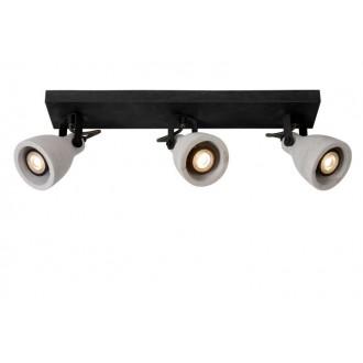 LUCIDE 05910/15/30 | Concri Lucide spot svjetiljka elementi koji se mogu okretati 3x GU10 960lm 3000K crno, sivo