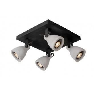 LUCIDE 05910/19/30 | Concri Lucide spot svjetiljka elementi koji se mogu okretati 4x GU10 1280lm 3000K crno, sivo