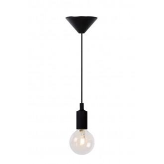 LUCIDE 08408/01/30 | Fix Lucide visilice svjetiljka s mogućnošću skraćivanja kabla 1x E27 crno
