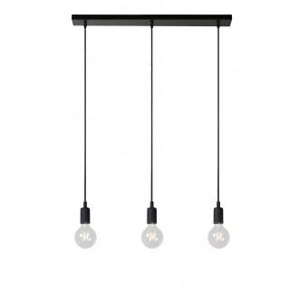LUCIDE 08408/03/30 | Fix Lucide visilice svjetiljka s mogućnošću skraćivanja kabla 3x E27 crno