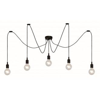 LUCIDE 08408/05/30 | Fix Lucide visilice svjetiljka s podešavanjem visine 5x E27 crno
