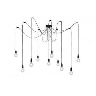 LUCIDE 08408/10/30 | Fix Lucide visilice svjetiljka s podešavanjem visine 10x E27 crno