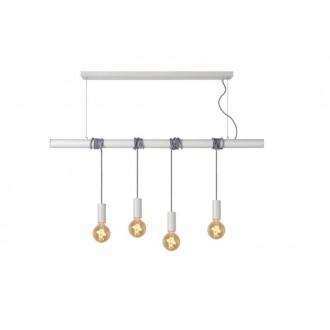 LUCIDE 08425/04/31 | Jaime Lucide visilice svjetiljka s mogućnošću skraćivanja kabla 4x E27 bijelo