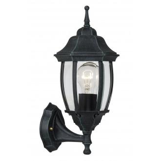 LUCIDE 11832/01/45 | Tireno Lucide zidna svjetiljka 1x E27 IP44 zelena antik, prozirno