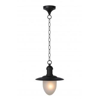 LUCIDE 11872/01/30 | ArubaL Lucide visilice svjetiljka 1x E27 IP44 crno, opal