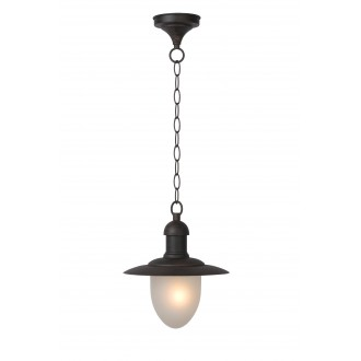 LUCIDE 11872/01/97 | ArubaL Lucide visilice svjetiljka 1x E27 IP44 rdža smeđe, opal
