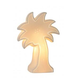 LUCIDE 13523/01/31 | Palm Lucide stolna svjetiljka 26,3cm 1x E14 bijelo, zeleno