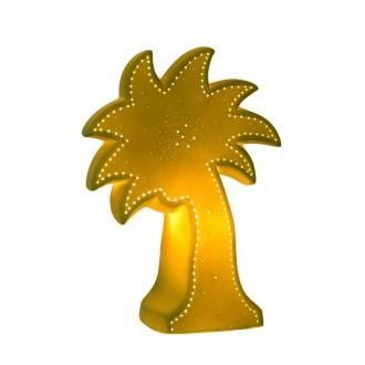 LUCIDE 13523/01/33 | Palm Lucide stolna svjetiljka 26,3cm 1x E14 bijelo, zeleno