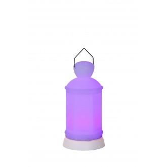 LUCIDE 13809/20/61 | Toby Lucide dekoracija svjetiljka daljinski upravljač promjenjive boje 1x LED RGBK IP54 bijelo
