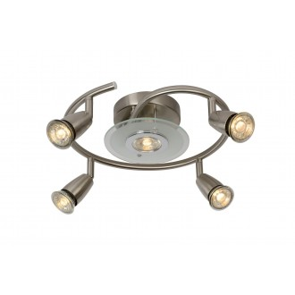 LUCIDE 13957/24/12 | Bingo Lucide spot svjetiljka elementi koji se mogu okretati 5x GU10 350lm 2700K satenski nikal