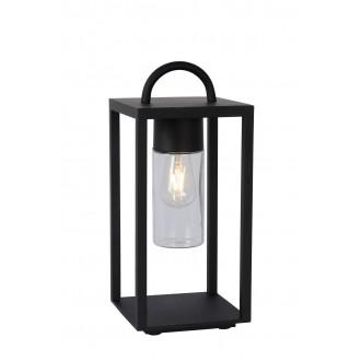 LUCIDE 14882/01/30 | Glimmer Lucide stolna svjetiljka 45,5cm 1x E27 IP65 crno, prozirno