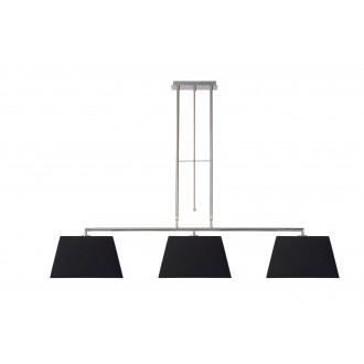 LUCIDE 17401/03/30 | Bilja Lucide visilice svjetiljka elementi koji se mogu okretati 3x E27 krom, crno