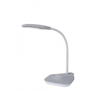 LUCIDE 18672/05/36 | Aiden-LU Lucide stolna, svjetiljke sa štipaljkama svjetiljka 59,5cm sa tiristorski dodirnim prekidačem jačina svjetlosti se može podešavati, USB utikač 1x LED 400lm 3000K sivo