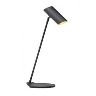 LUCIDE 19600/01/30 | Hester Lucide stolna svjetiljka 54,5cm s prekidačem elementi koji se mogu okretati 1x GU10 crno