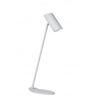 LUCIDE 19600/01/31 | Hester Lucide stolna svjetiljka 54,5cm s prekidačem elementi koji se mogu okretati 1x GU10 bijelo