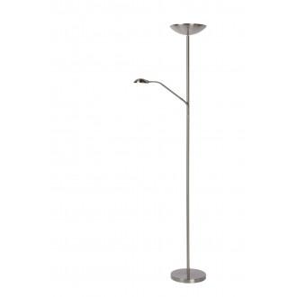 LUCIDE 19791/24/12 | Zenith-LU Lucide podna svjetiljka 180cm sa tiristorskim prekidačem, s prekidačem elementi koji se mogu okretati 1x LED 1600lm + 1x LED 320lm 3000K nikel