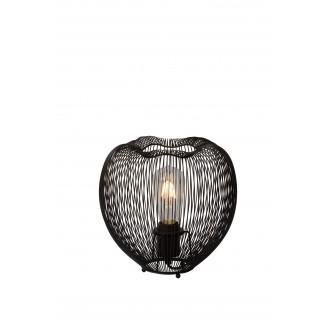 LUCIDE 20501/25/30 | Wirio Lucide stolna svjetiljka 25cm s prekidačem 1x E27 crno