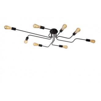 LUCIDE 21112/08/30 | Lester-LU Lucide stropne svjetiljke svjetiljka 8x E27 crno
