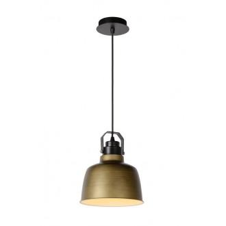 LUCIDE 21413/21/03 | Naut Lucide visilice svjetiljka s mogućnošću skraćivanja kabla 1x E27 crno, bronca