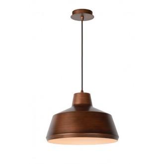 LUCIDE 21414/35/17 | Naut Lucide visilice svjetiljka s mogućnošću skraćivanja kabla 1x E27 crno, bakar