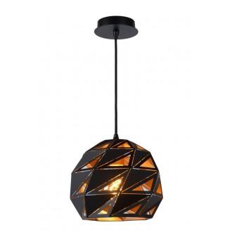 LUCIDE 21415/25/30 | Malunga Lucide visilice svjetiljka s mogućnošću skraćivanja kabla 1x E27 crno, zlatno