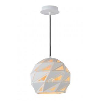 LUCIDE 21415/25/31 | Malunga Lucide visilice svjetiljka s mogućnošću skraćivanja kabla 1x E27 bijelo, zlatno