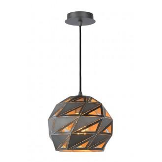 LUCIDE 21415/25/36 | Malunga Lucide visilice svjetiljka s mogućnošću skraćivanja kabla 1x E27 sivo, zlatno