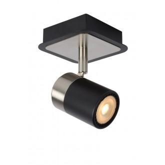 LUCIDE 26957/05/30 | Lennert Lucide spot svjetiljka elementi koji se mogu okretati 1x GU10 320lm 3000K crno, krom
