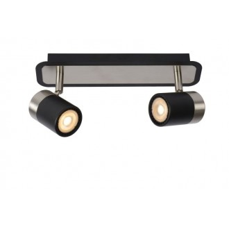 LUCIDE 26957/10/30   Lennert Lucide spot svjetiljka elementi koji se mogu okretati 2x GU10 320lm 3000K crno, krom